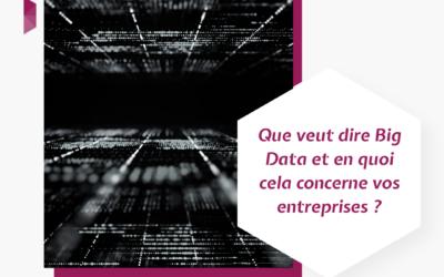 Que veut dire Big Data et en quoi cela concerne vos entreprises ?